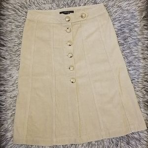 Zara Button Down Corduroy Skirt